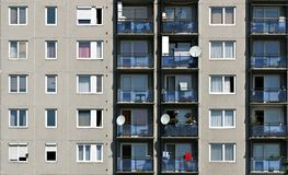 Block Of Flat. Hungarian block of flats in Miskolc from the '80s Royalty Free Stock Images
