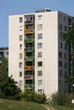 Block Of Flat. Hungarian block of flats in Miskolc from the '80s Stock Photos