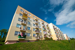 Block of flats. Generic image of colorful block of flats on sunny day royalty free stock image
