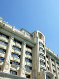 Block of flats. Old block of flats on blue sky in Bucharest, Romania Stock Photography