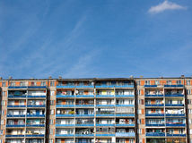 Block of flats. Blue sky Royalty Free Stock Image