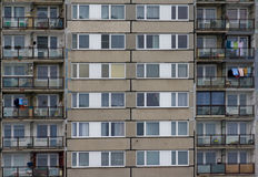 Block of flats. In big city royalty free stock photos