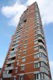 Block of flats. Tipical brick block of flats royalty free stock image