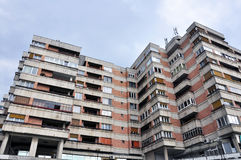 Block of flats. Of old communist type from eastern europe royalty free stock photos
