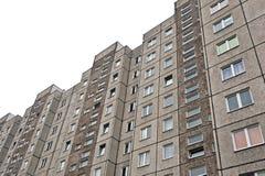Block of flats. Grey block of flats - apartment building stock photos