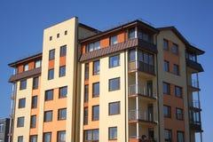 Block of flats. Multistoried living block of flats Stock Photos