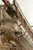 Block of flats. The demolition of a block of flats Royalty Free Stock Image