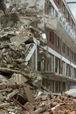 A block of flats. The demolition of a block of flats Stock Photography