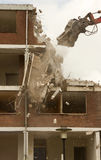 A block of flats. The demolition of a block of flats Royalty Free Stock Photos