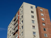 Block of flats. Old panel buildings royalty free stock photography
