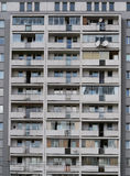 Block of flats. Balconies in block of flats from 50's, Warsaw, Poland Royalty Free Stock Image