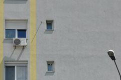 Block of flats detail. Block of flats - apartment building - detail royalty free stock image