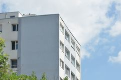 Block of flats. Apartment building - detail stock photography