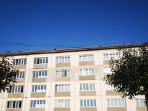 Block of flats. Apartment building - detail royalty free stock photos
