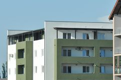 Block of flats. Apartment building - detail royalty free stock image