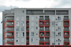 Block of flats. Apartment building - detail stock photo