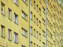 Block of flats. Big wall block of flats royalty free stock photography