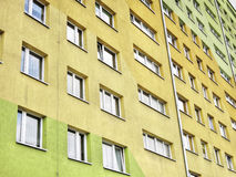 Block of flats. Big wall block of flats Stock Photography