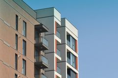 Block of flats. Apartment building - detail royalty free stock photo