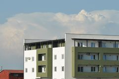 Block of flats. Apartment building - detail stock image