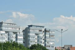 Block of flats. Apartment building - detail royalty free stock photography