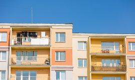 Block of flats building Royalty Free Stock Image