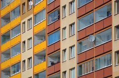 Block of flats closeup Stock Photography