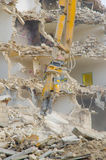 Block of flats demolition Stock Photo