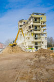 Block of flats demolition Stock Photography