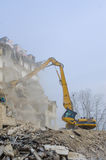 Block of flats demolition Royalty Free Stock Images