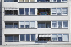 Block of Flats, House. Block of Flats, modrn House royalty free stock images
