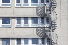 Block of Flats, House. Block of Flats, modrn House with staircase stock photos