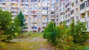Block flats. Living accommodation outdoors Royalty Free Stock Photography