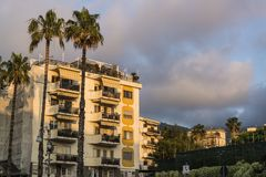 Block of flats, Sorrento, Italy stock photos