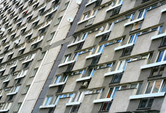 Block of flats from 50's in center of Warsaw. Block of small flats from 50's in center of Warsaw, Poland Royalty Free Stock Image