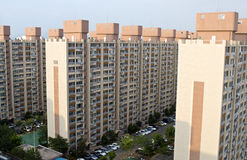 Block of flats in South Korea royalty free stock photography