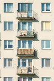 Block of flats. Throw on a block of flats Royalty Free Stock Images