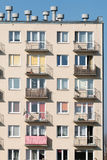 Block of flats. Throw on a block of flats Royalty Free Stock Image