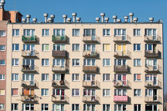 Block of flats. Throw on a block of flats Royalty Free Stock Photo