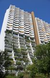 Block of flats with trees. In Alterlaa, Vienna stock photography