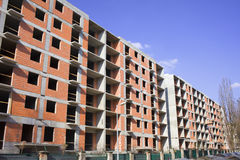 Block of Flats Under Construction Royalty Free Stock Photography