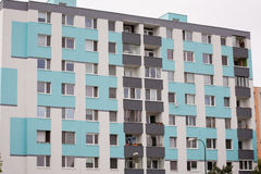 Block of flats, urban building Royalty Free Stock Image