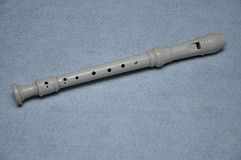 A block flute. Displayed on a white background stock photos