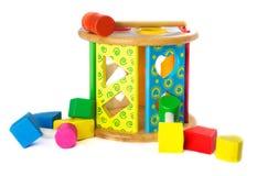 Block-Formen wodden Spielzeug Lizenzfreie Stockfotografie