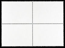 Block of Four Blank Postage Stamps Stock Photography