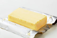 Block of fresh butter Royalty Free Stock Photography