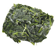 Block Of Frozen Spinach Royalty Free Stock Images