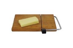 Block gealterter erstklassiger Cheddarkäse-Käse Stockfotos