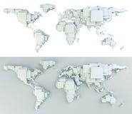 block gjorde världen Arkivfoto