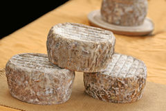 Block of goat cheese. Royalty Free Stock Photos